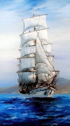 M. Irina – Blog - #Blog #drauben #Irina Moby Dick, Old Sailing Ships, Sea Of Thieves, Boat Painting, Dark Fantasy Art, Ship Art, Tall Ships, Lighthouse, Photo Art