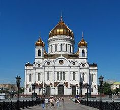 Church of Christ the Savior. Moscow. Tchaikovsky's 1812 overture premiered here in 1880. Stalin blew it up  in 1931. Rebuilt 1990.