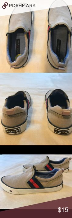 TH boys sneakers Boy casual shoe. Slip on. Beige with strips. Great for spring Tommy Hilfiger Shoes Moccasins