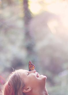 butterfly on nose! Kiss Art, Love Kiss, Butterfly Kisses, Beautiful Butterflies, Belle Photo, Life Is Beautiful, Photos, Pictures, Make Me Smile