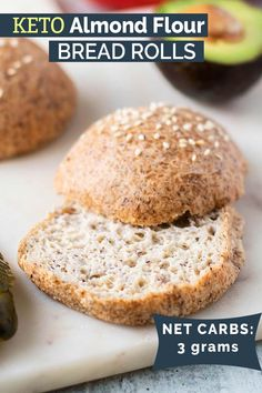 Keto bread rolls the best low carb bread recipe! these light and airy rolls are made with almond flour and are low net carbs blissfullylowcarb com keto lowcarb bread rolls almondflour easy recipe easy keto clam fritters Best Low Carb Bread, No Bread Diet, Easy Keto Bread Recipe, Lowest Carb Bread Recipe, Recipe List, Recipe Ideas, Coconut Flour Bread, Almond Flour Recipes, Oat Flour
