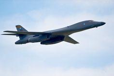 A B-1B Lancer flies June 4, 2011, during the 2011 Dakota Thunder air show at Ellsworth Air Force Base, S.D.