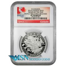 2014 Canada 1/2 Oz Silver Old Maple  O Canada NGC PF70 ER Matte     2014 Canada 1/2 Oz Silver Down by the Old Maple Tree - O Canada Series $10 NGC PF70 Matte Early Releases Proof 70 Matte. Low price for PF70 at www.isnmoderncoins.com/33757