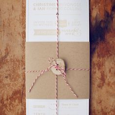 [ 3 of 4 ] Wedding Invitations. DIY Christine & Ian. Oh So Beautiful Paper.