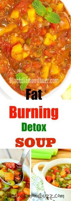 Weight Loss Detox Soup Recipes – Fat Burning Vegetable Meals For Weight Loss and Belly Fat. You can eat this clean low carb diet for 7 – 21 days. Weight Loss Juice, Weight Loss Soup, Weight Loss Detox, Fat Loss Diet, Weight Loss Smoothies, Lose Weight, Fat Burning Soup, Fat Burning Foods, Diet Soup Recipes