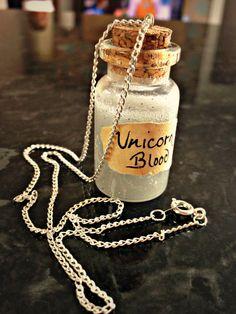 Miniature Unicorn Blood Harry Potter potion bottle