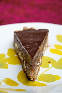 Chocolate caramel pretzel & chip tart