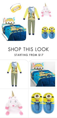 """Minions Bed Set"" by dovepool ❤ liked on Polyvore"