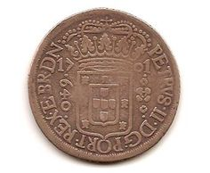 Moeda brasileira do Brasil Colônia 1701 640 réis