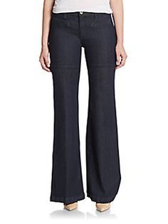 AG Adriano Goldschmied - Wide-Leg Flared Jeans