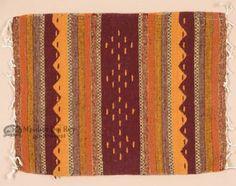 """Zapotec Southwest Place Mat 16""""""""x20"""""""" (ak)"""