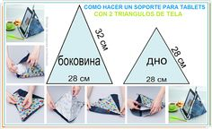 Como hacer un Soporte para Tablets o Ipads Crafts To Sell, Diy And Crafts, Sewing To Sell, Reading Pillow, Jean Crafts, Diy Couture, Homemade Crafts, Sewing Projects For Beginners, Learn To Sew