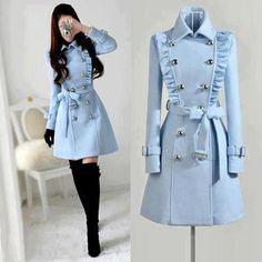 joli manteau  bleu ciel