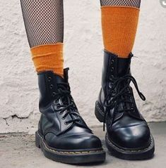 Our classic 1460 boot, paired with Halloween theme socks. #halloween