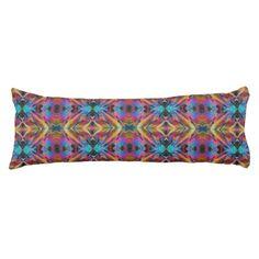 Body Pillow; Fractal Crystal Design 1 Body Pillow - diy cyo personalize design idea new special custom