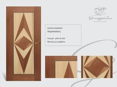 handmade wooden door_code: Diamond / by Georgiadis furnitures#handmade #wooden #door #marqueterie