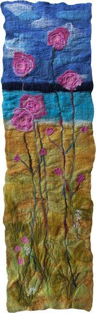 wool felted landscape
