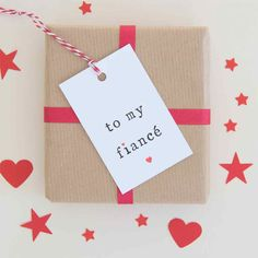All of your fiancé gifts, whether it's to your bride or husband to be, need to look amazing wrapped up so make sure you have plenty of these 'to my fiancé' gift tags on standby. There won't be many more Christmases where you get to embrace being engaged as the wedding draws ever closer so make the most of it!
