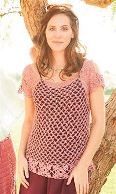 Topanga Tunic by Dora Ohrenstein. Crochet jumper or tunic. 5 ply linen/flax 247m/100g x 2-3. 2.75 & 3.25mm hook. Interweave Crochet Summer 2013. Saved to Evernote/iBooks.