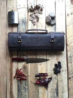 Leather chef knife roll under $300 – Savage Supply Company
