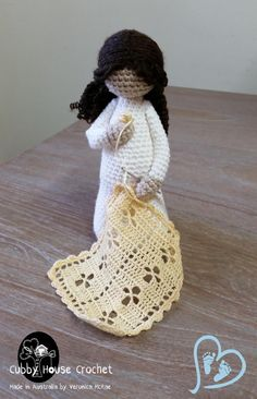 Crochet Pattern. Mother-to-be. EVE Pregnant by CubbyHouseKids
