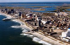 Atlantic City, NJ  -  Where you can gamble your paycheck away and then walk on the Boardwalk, or sit out on the Shore.