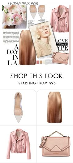 """""""PINK NANA!"""" by strange-girl0 ❤ liked on Polyvore featuring Gianvito Rossi, Miss Selfridge, Anja, Karl Lagerfeld and IWearPinkFor"""