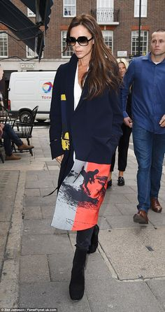 Stylish appearance: Singer-turned-designer Victoria Beckham hosted an event at her Dover street store in London on Friday morning as Fashion Week kicked off