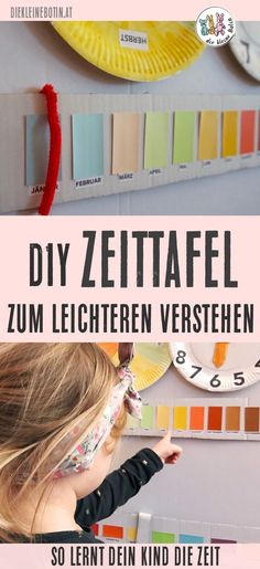 Realize time- Zeit begreifen Days of the week, months, seasons, the clock … it is very hard to understand the time With this simple and almost free DIY, you will make learning easier for your child! Primary Education, Elementary Schools, Understanding The Times, Blog Love, Play To Learn, Kids And Parenting, Diy For Kids, Kids Learning, Kids Playing