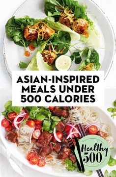 From noodles to stir-fries, salad bowls and fried rice, these Asian-inspired dishes all fall under 500 calories. Clean Eating Sweets, Clean Eating Kids, Clean Eating Soup, Healthy Eating, Healthy Food, Clean Lunches, Healthy Lunches For Kids, Lunch Snacks, Kid Lunches