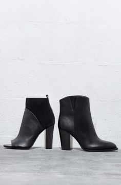 Sleek black booties are a fall fashion necessity. #NSale