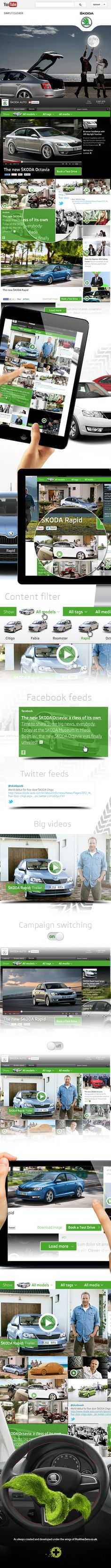 Škoda Youtube channel by PositiveZero.co.uk , via Behance