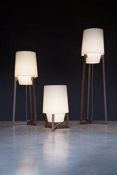 Wooden floor lamp LAMPADA 531 by Tonon design Harald Guggenbichler