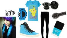 """Blue!3"" by suicide-scars ❤ liked on Polyvore"