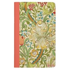 This handmade pocket journal featuring a timeless floral design by William Morris is the perfect accessory to keep your notes organized. Printed in full color on 100% acid-free recycled paper. Select from blank, lined, grid, or checklist style page inserts for use in recipe keeping, note taking, or sketching!