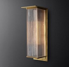 "D'Oleron Box Sconce 20""; Stair Wall Sconce Option"