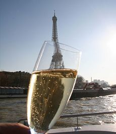Nothing like a romantic cruise on the Seine, sipping champagne, watching the sun set...
