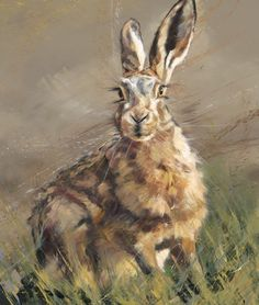 The Listener by Debbie Boon #art #artist #gallery #yorkshire #Pocklington #wolds #littleacorns #country #countryside #hare #moongazing #wildlife