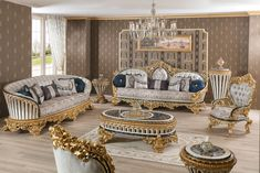 Luxury Dining Room, Luxury Sofa, Dining Set, Victorian Fashion, Couch, Furniture, Home Decor, Dinning Set, Settee
