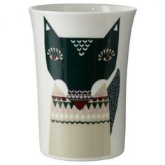 Donna Wilson - Wolfie Beaker [00466] - £14.00 : Nixey and Godfrey, Objects and Curiosities