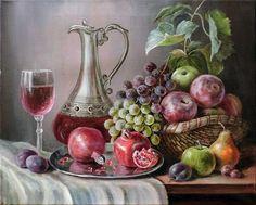 Super Geometric Art Fruit Still Life 53 Ideas Fruit Painting, China Painting, Painting Art, Foto Transfer, Still Life Fruit, Still Life Photos, Wine Art, Painting Still Life, Fruit Art