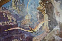 Benjamintmills Illustration: James Gurney Dinotopia Print
