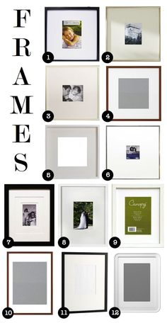 My favorite affordable frames for Gallery Walls!