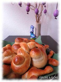 verdrehte Hefeteig-Häschen Bread, Food, Simple, Food Food, Rezepte, Breads, Bakeries, Meals