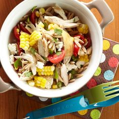 Orzo Chicken Salad with Avocado-Lime Dressing from @Diabetic Living http://www.diabeticlivingonline.com/recipe/salads/orzo-chicken-salad-with-avocado-lime-dressing/