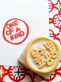OOAK hand carved rubber stamp by talktothesun