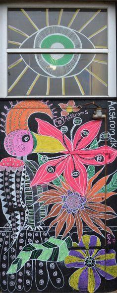 Door and window painting at Aarhus Street Food, Denmark. By Aastrøm - aastrom.dk