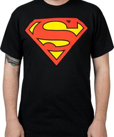 Black Superman Logo Shirt