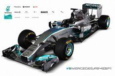 2014 AMG Mercedes Formula Silver Arrow W05