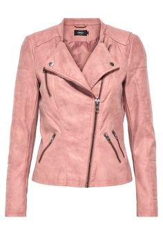 Only ash rose leather biker jacket